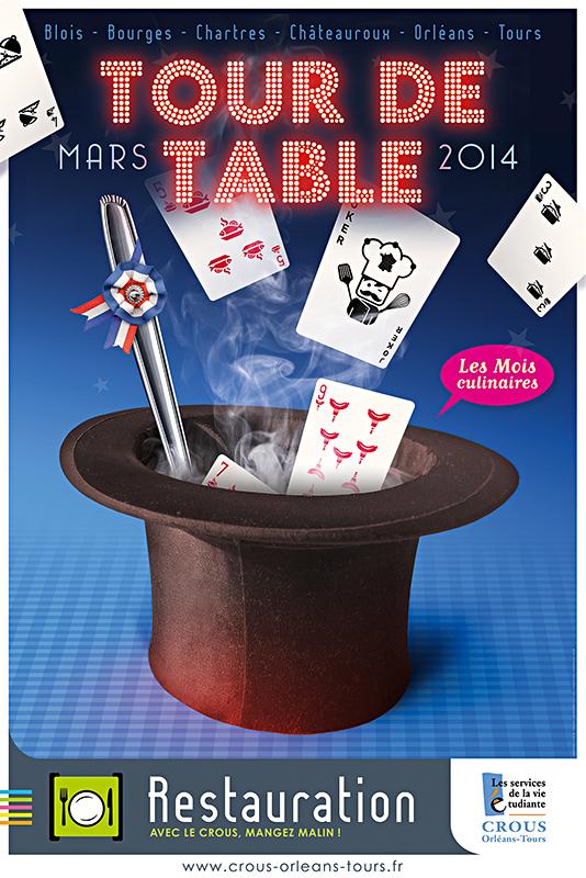 Affiche Poster CROUS Orléans Mars 2014