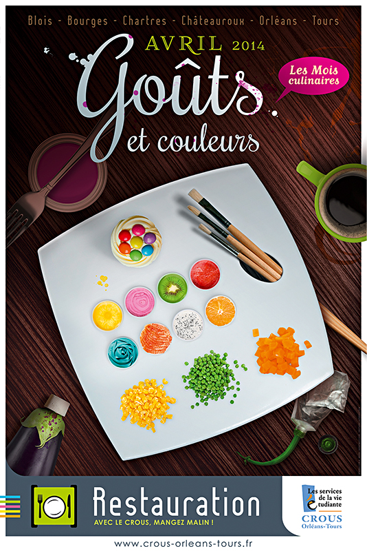 Affiche Poster CROUS Orléans Avril 2014