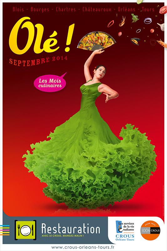 Affiche Poster CROUS Orléans Sept 2014