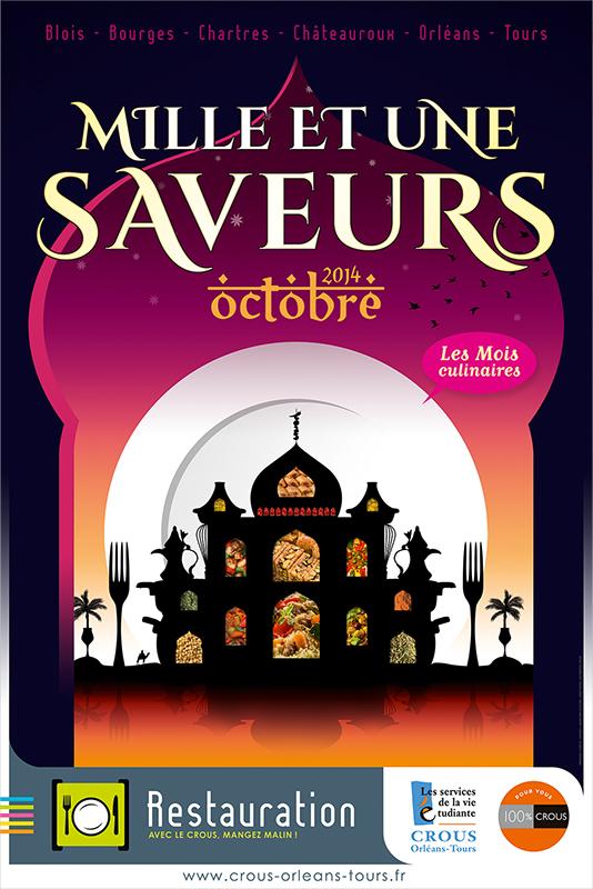 Affiche Poster CROUS Orléans Oct 2014