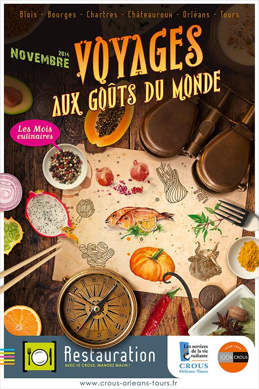 Affiche Poster CROUS Orléans Nov 2014