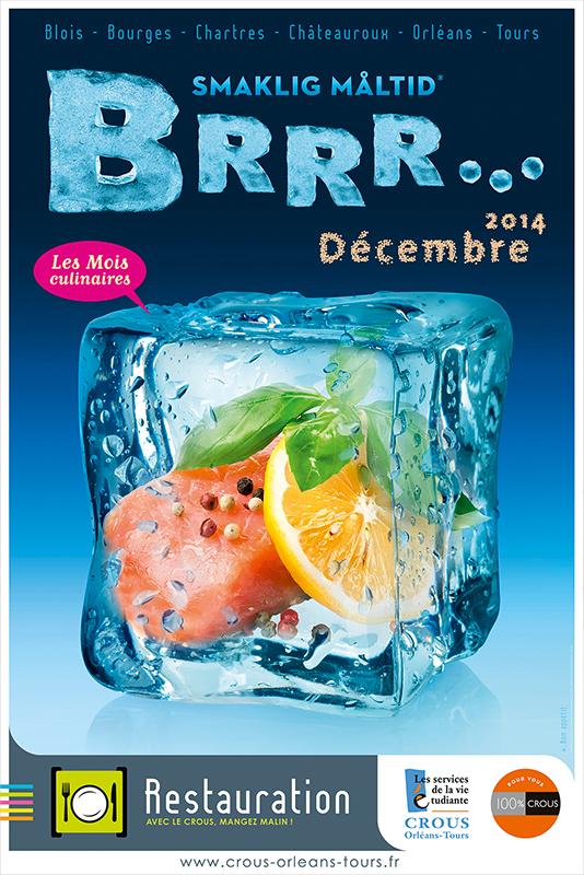 Affiche Poster CROUS Orléans Dec 2014