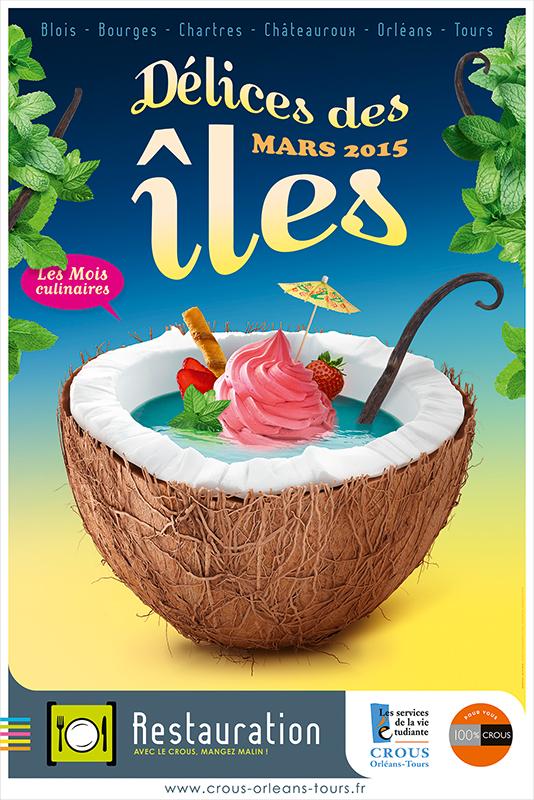 Affiche Poster CROUS Orléans Mars 2015