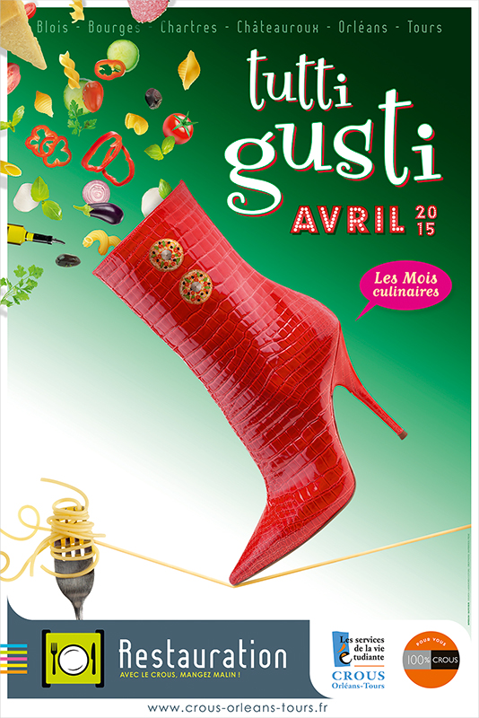Affiche Poster CROUS Orléans Avril 2015