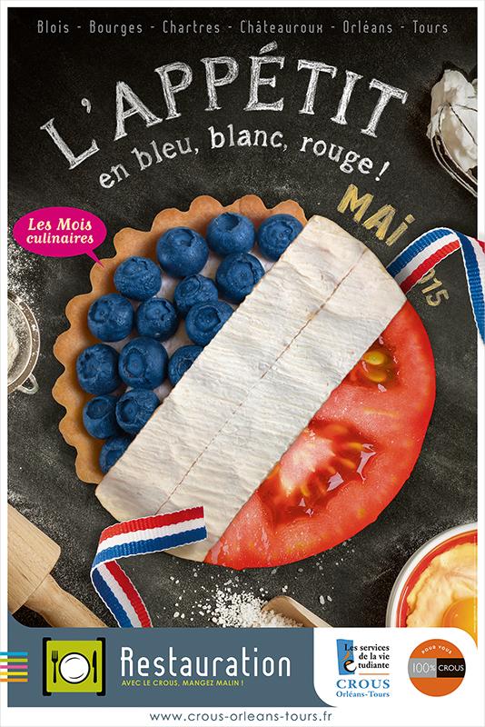 Affiche Poster CROUS Orléans Mai 2015