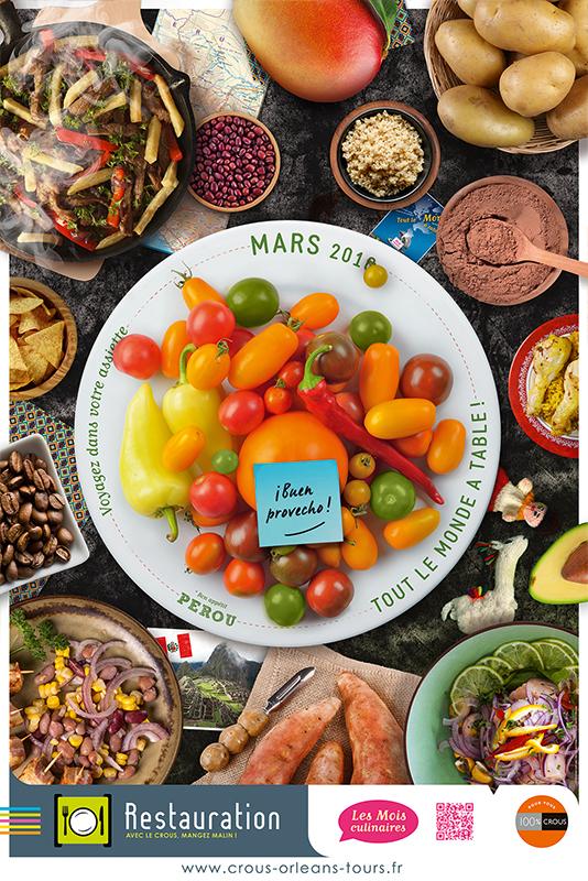 Affiche Poster CROUS Orléans Mars 2016