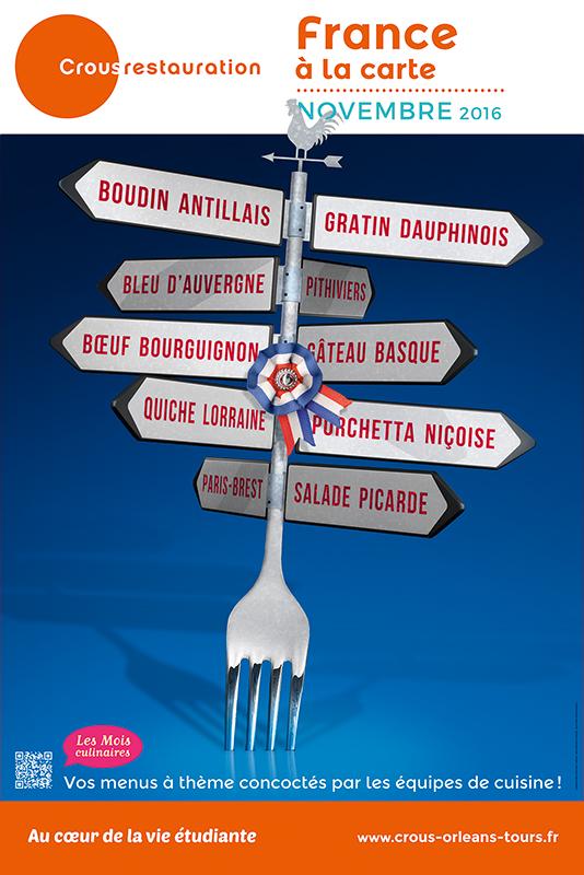 Affiche Poster CROUS Orléans Nov 2016